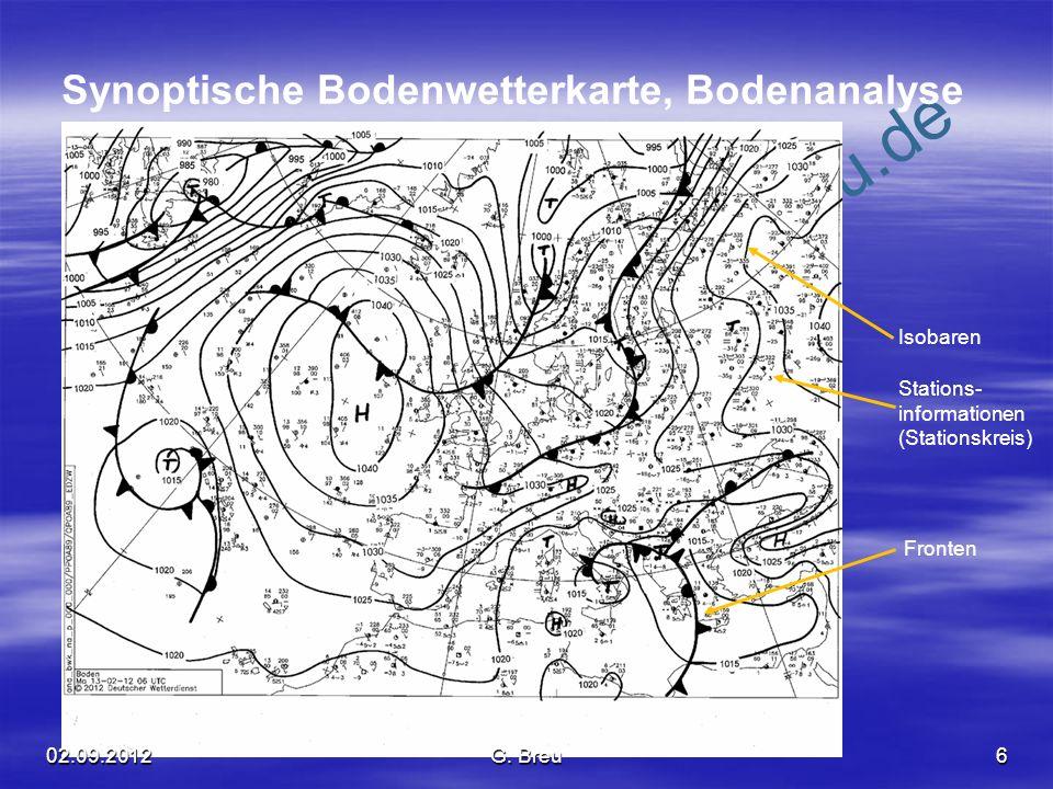 Synoptische Bodenwetterkarte, Bodenanalyse
