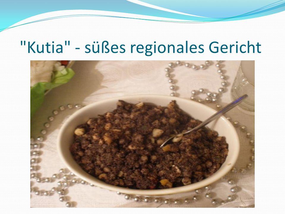 Kutia - süßes regionales Gericht