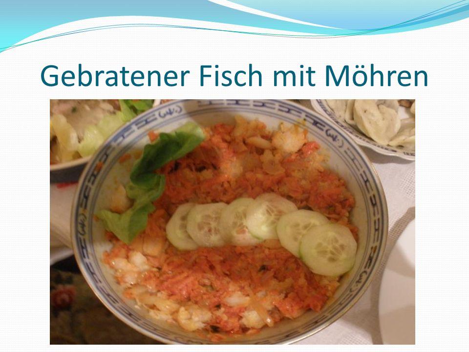 Gebratener Fisch mit Möhren