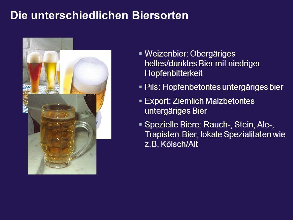 Die unterschiedlichen Biersorten