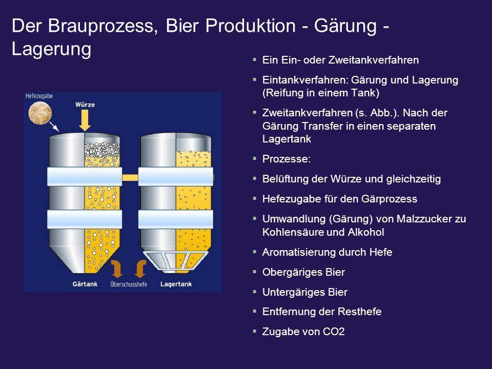 Der Brauprozess, Bier Produktion - Gärung - Lagerung