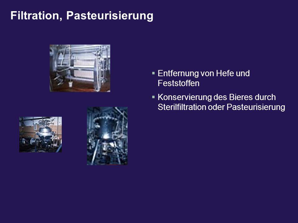 Filtration, Pasteurisierung