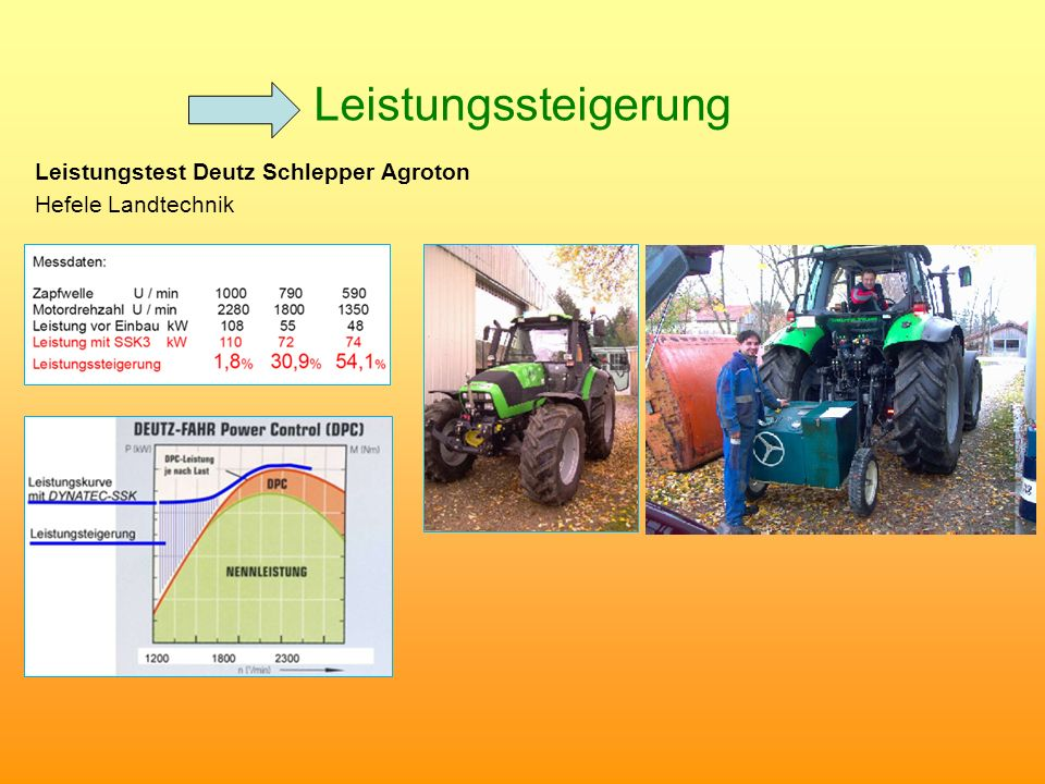 Leistungssteigerung Leistungstest Deutz Schlepper Agroton