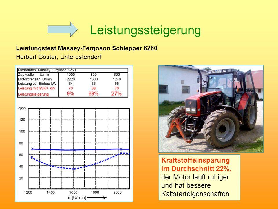 Leistungssteigerung Leistungstest Massey-Fergoson Schlepper 6260. Herbert Göster, Unterostendorf.