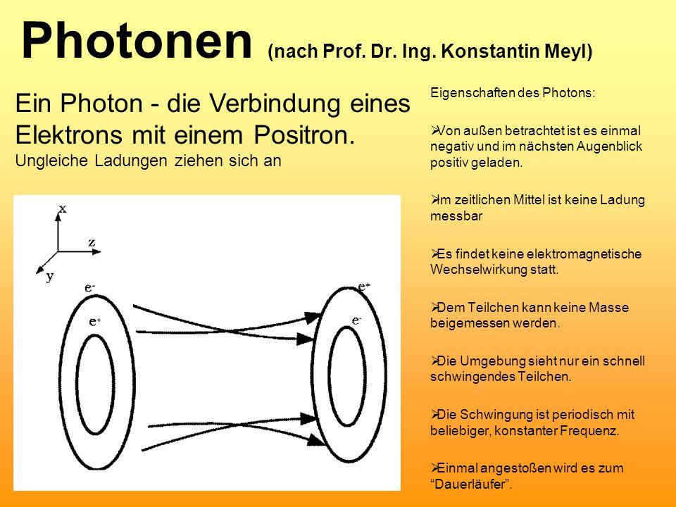 Photonen (nach Prof. Dr. Ing. Konstantin Meyl)
