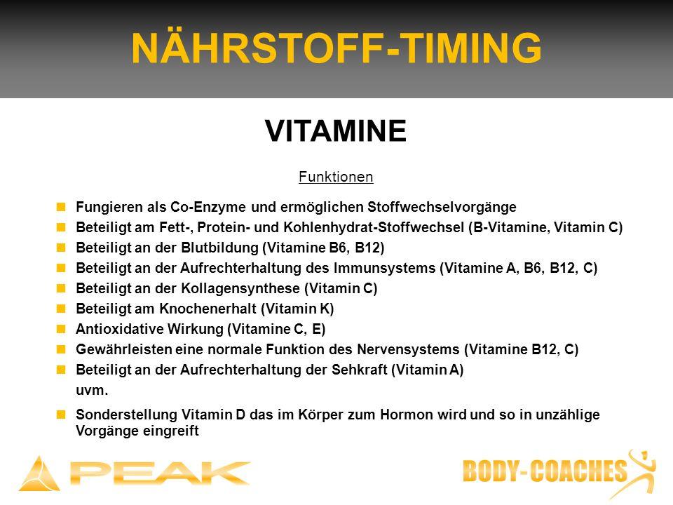 NÄHRSTOFF-TIMING VITAMINE Funktionen