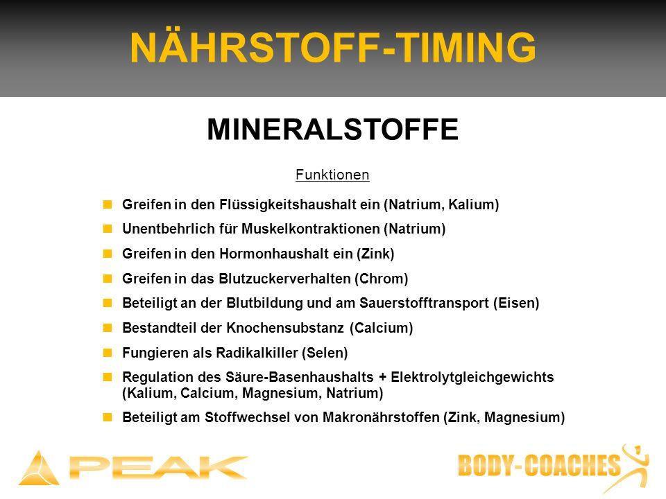 NÄHRSTOFF-TIMING MINERALSTOFFE Funktionen