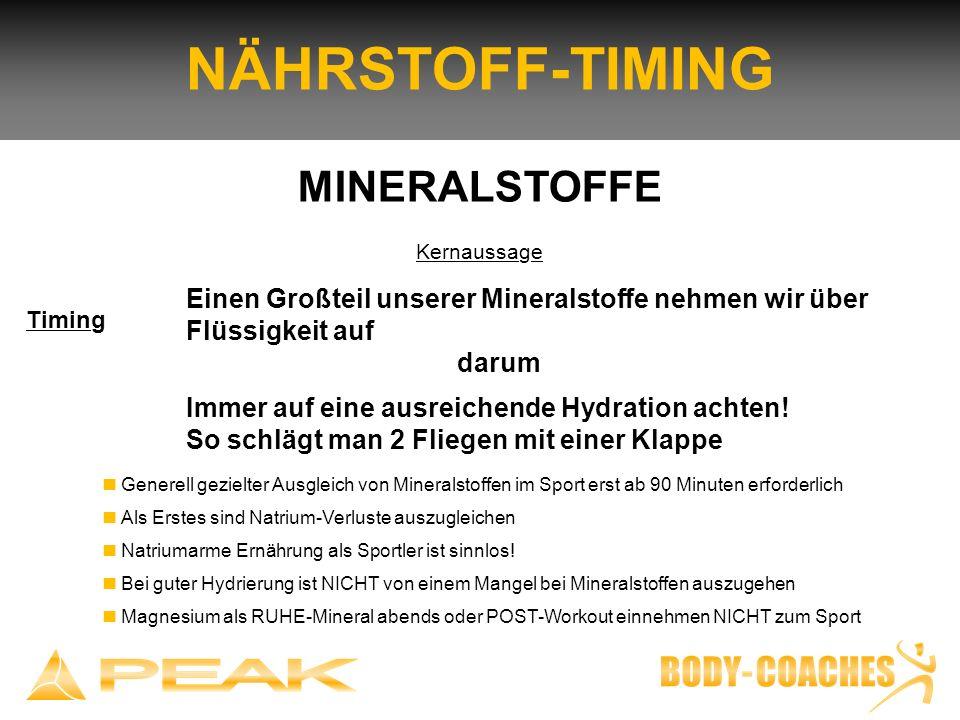 NÄHRSTOFF-TIMING MINERALSTOFFE