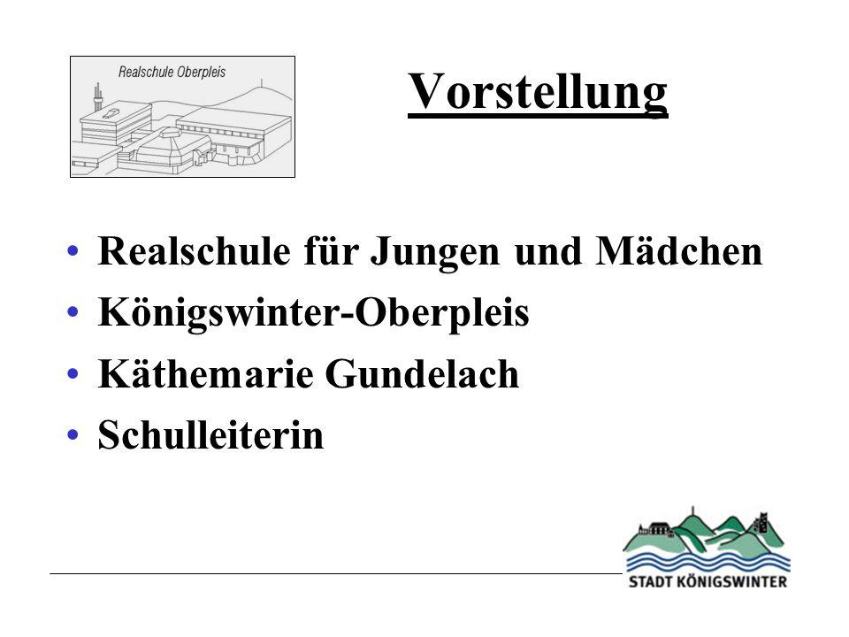 Vorstellung Realschule für Jungen und Mädchen Königswinter-Oberpleis