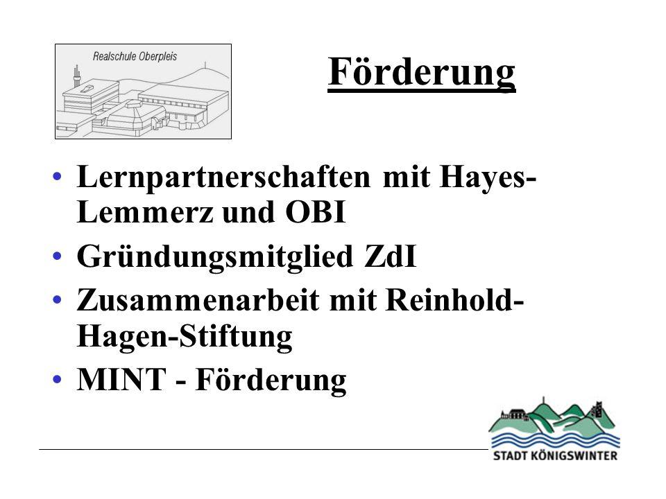 Förderung Lernpartnerschaften mit Hayes-Lemmerz und OBI