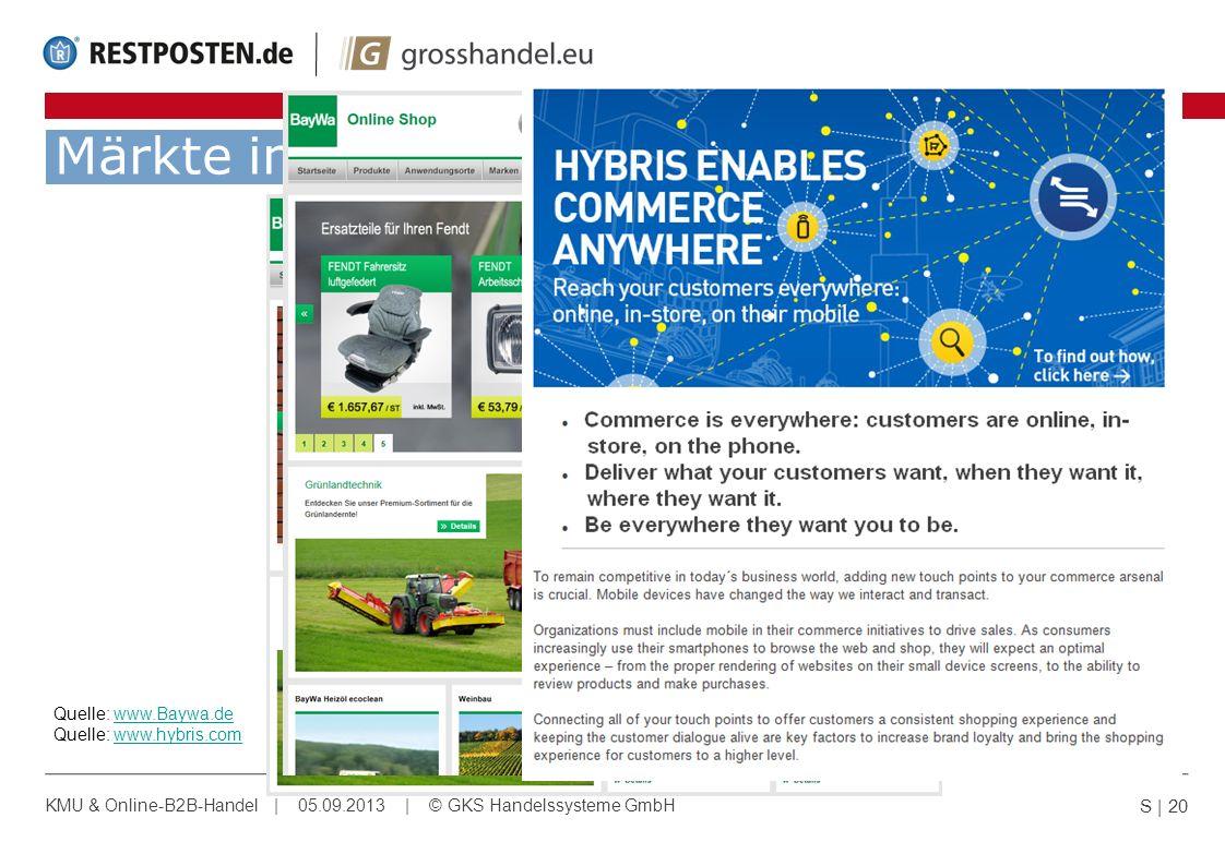 Märkte in Bewegung! Quelle: www.Baywa.de Quelle: www.hybris.com