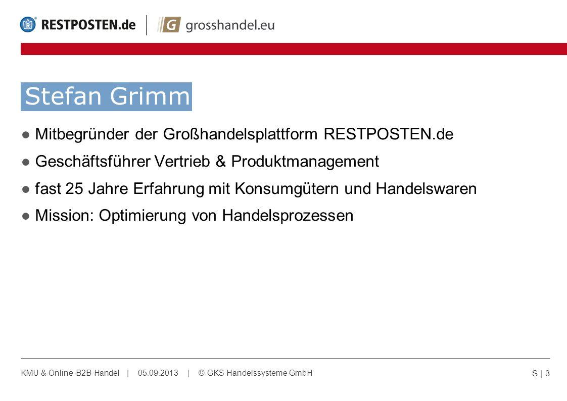 Stefan Grimm Mitbegründer der Großhandelsplattform RESTPOSTEN.de