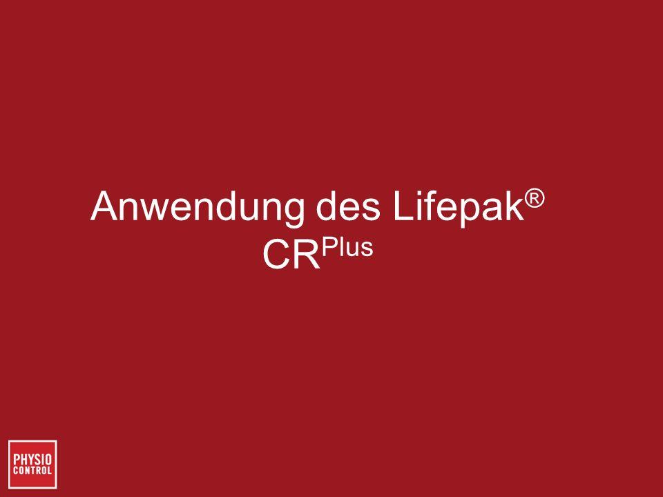 Anwendung des Lifepak® CRPlus
