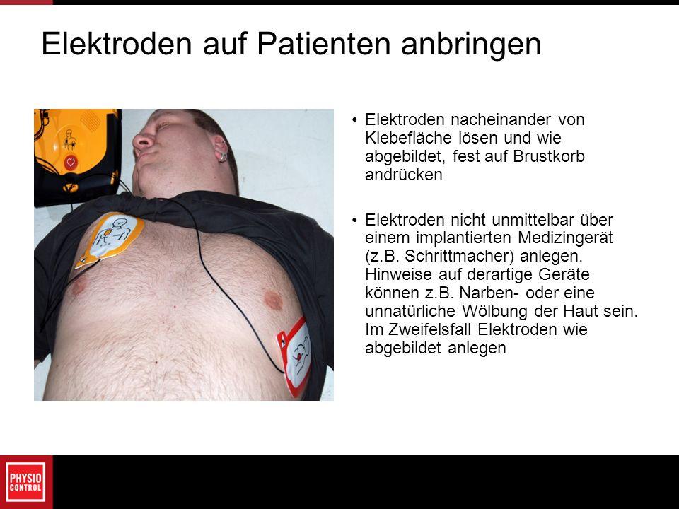 Elektroden auf Patienten anbringen