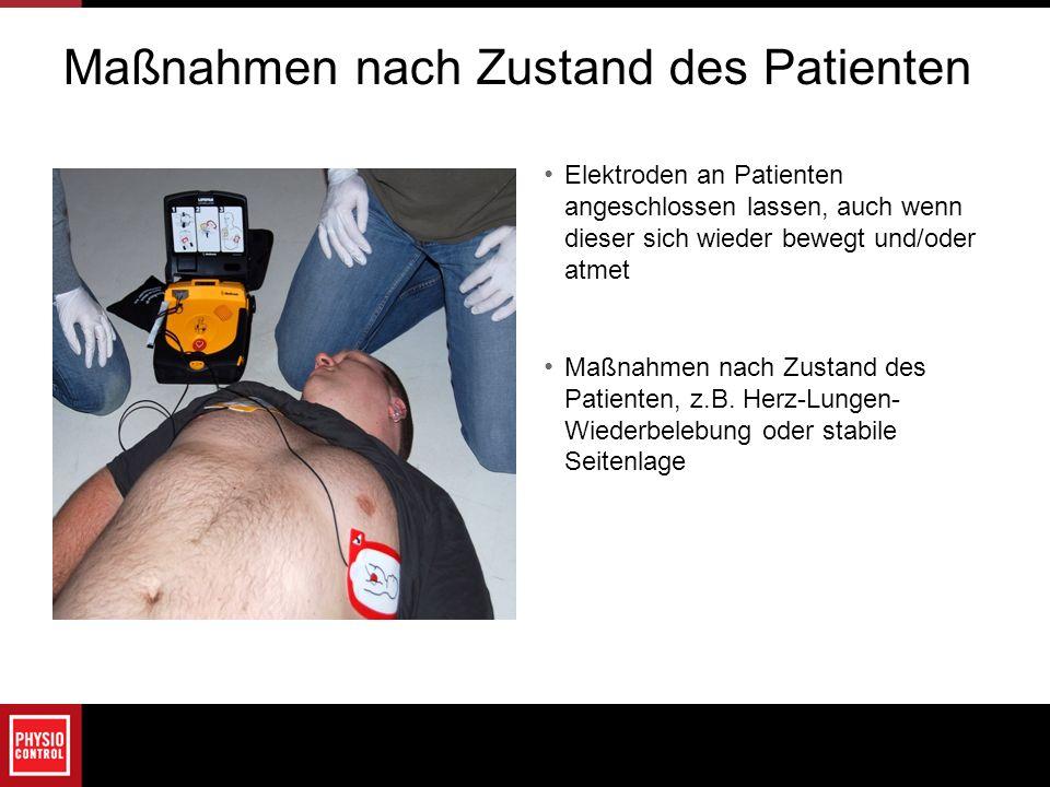 Maßnahmen nach Zustand des Patienten