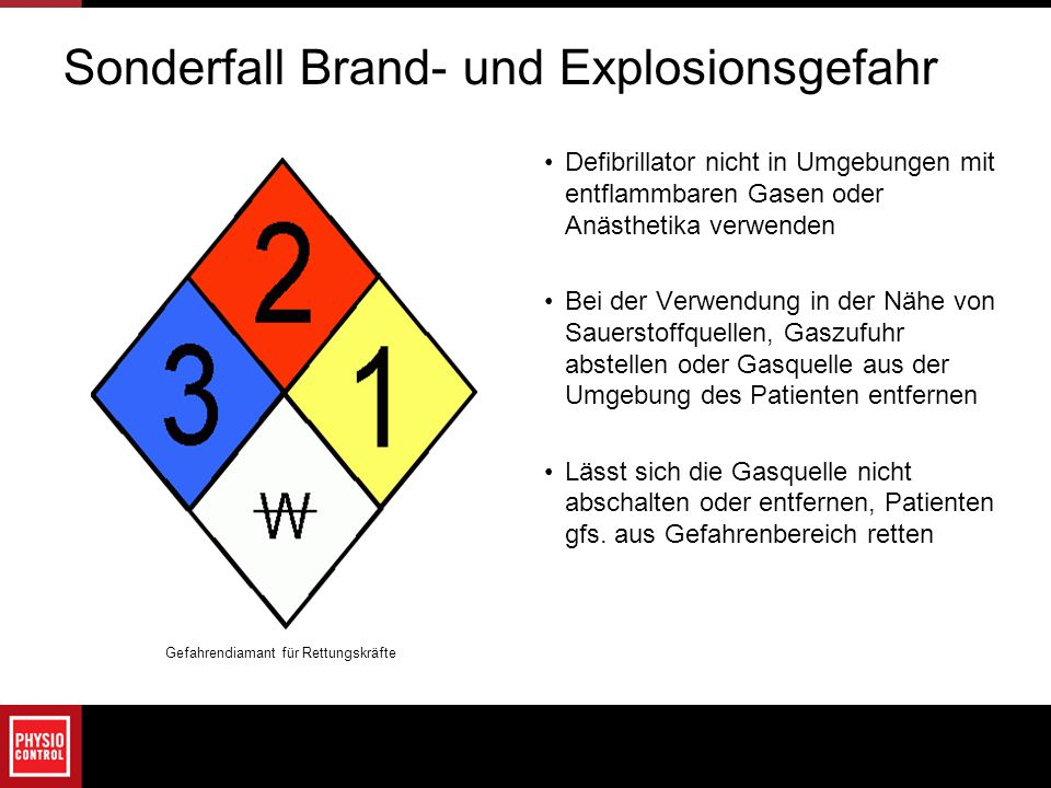 Sonderfall Brand- und Explosionsgefahr
