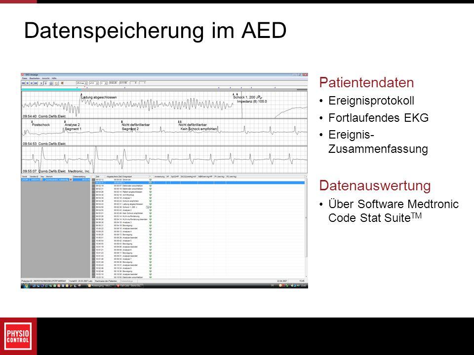Datenspeicherung im AED