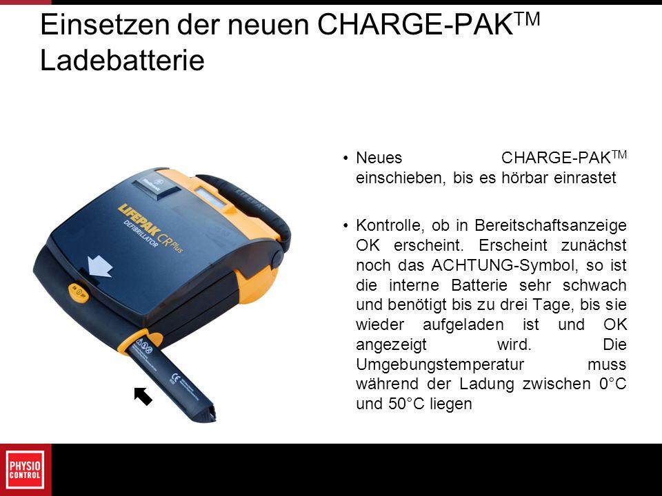 Einsetzen der neuen CHARGE-PAKTM Ladebatterie