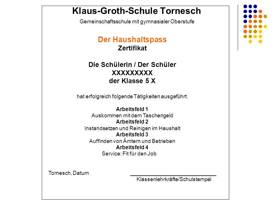 Klaus-Groth-Schule Tornesch Die Schülerin / Der Schüler