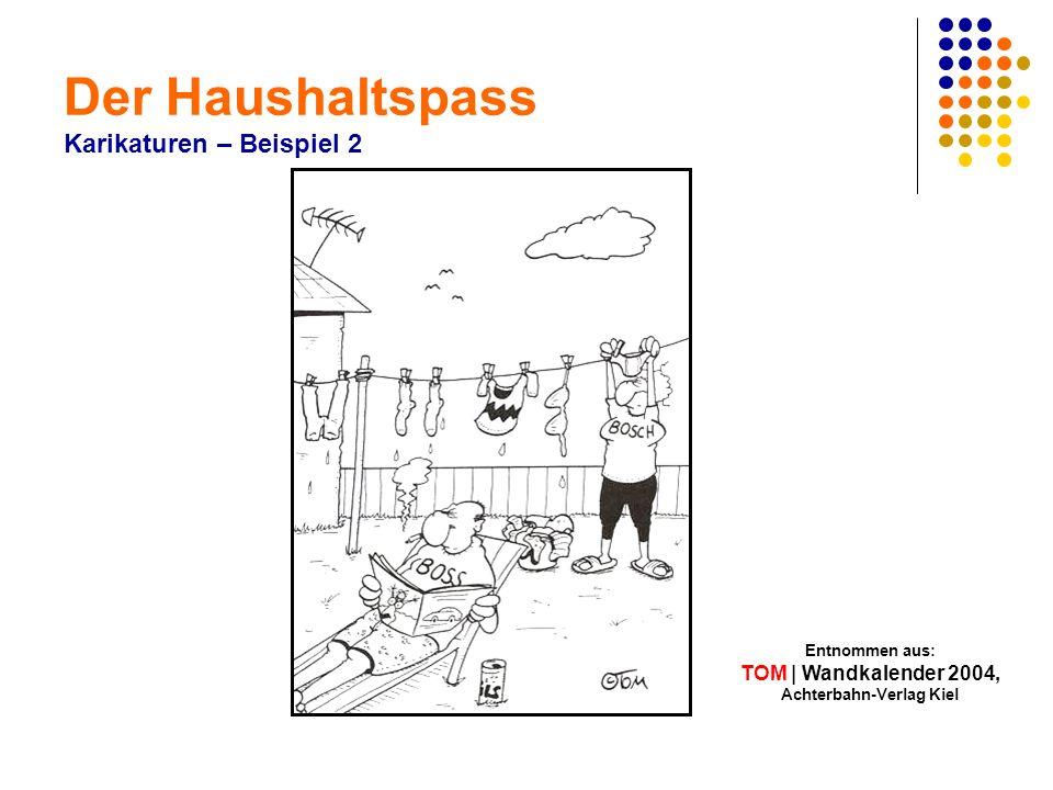 Der Haushaltspass Karikaturen – Beispiel 2