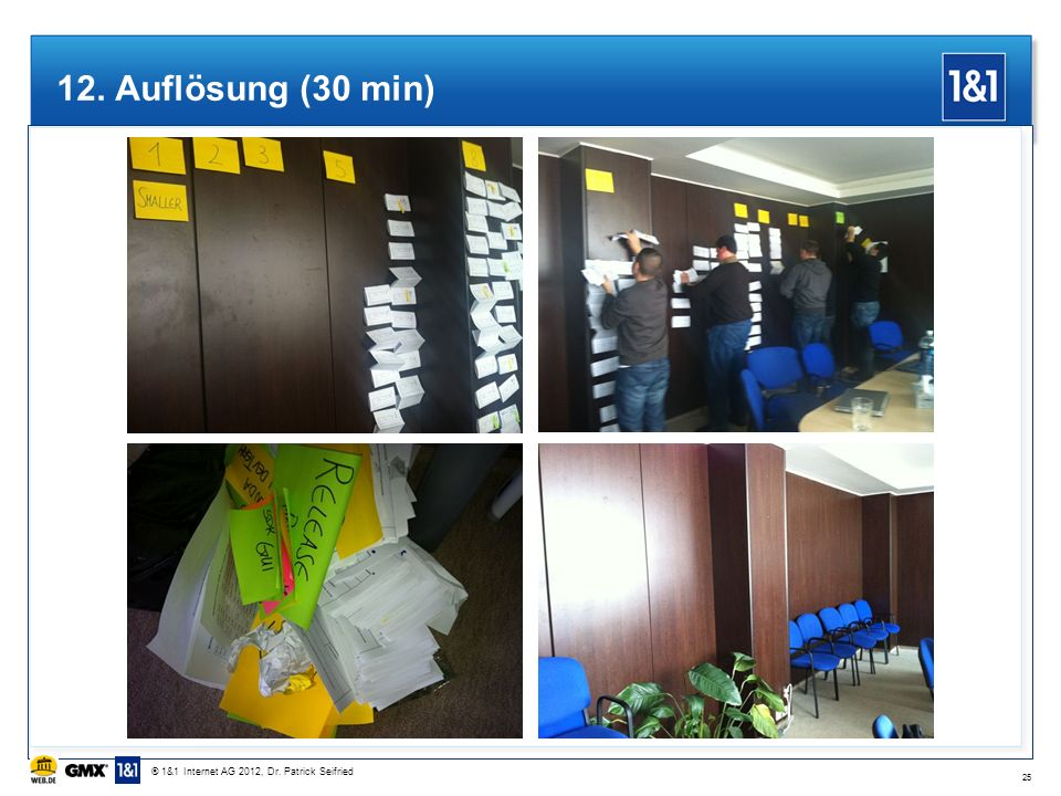 12. Auflösung (30 min) ® 1&1 Internet AG 2012, Dr. Patrick Seifried 25