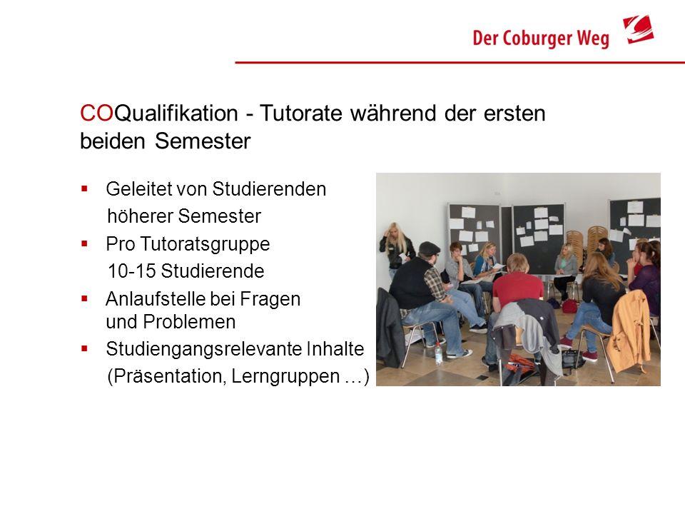 COQualifikation - Tutorate während der ersten beiden Semester