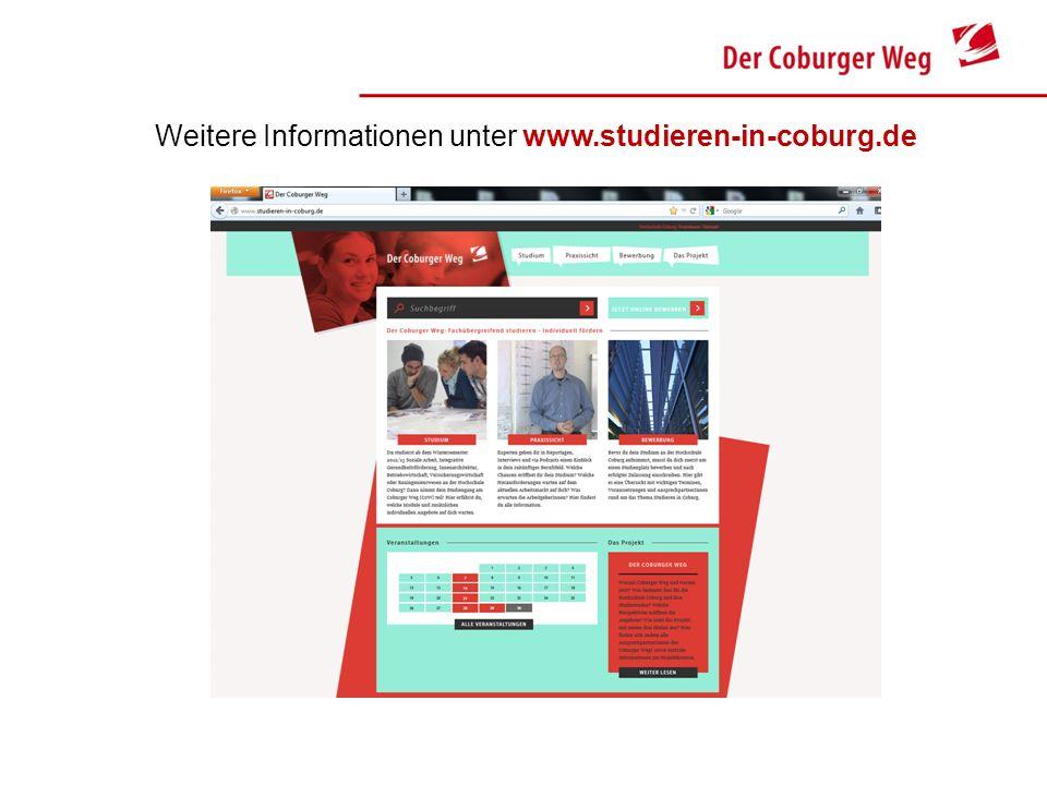 Weitere Informationen unter www.studieren-in-coburg.de