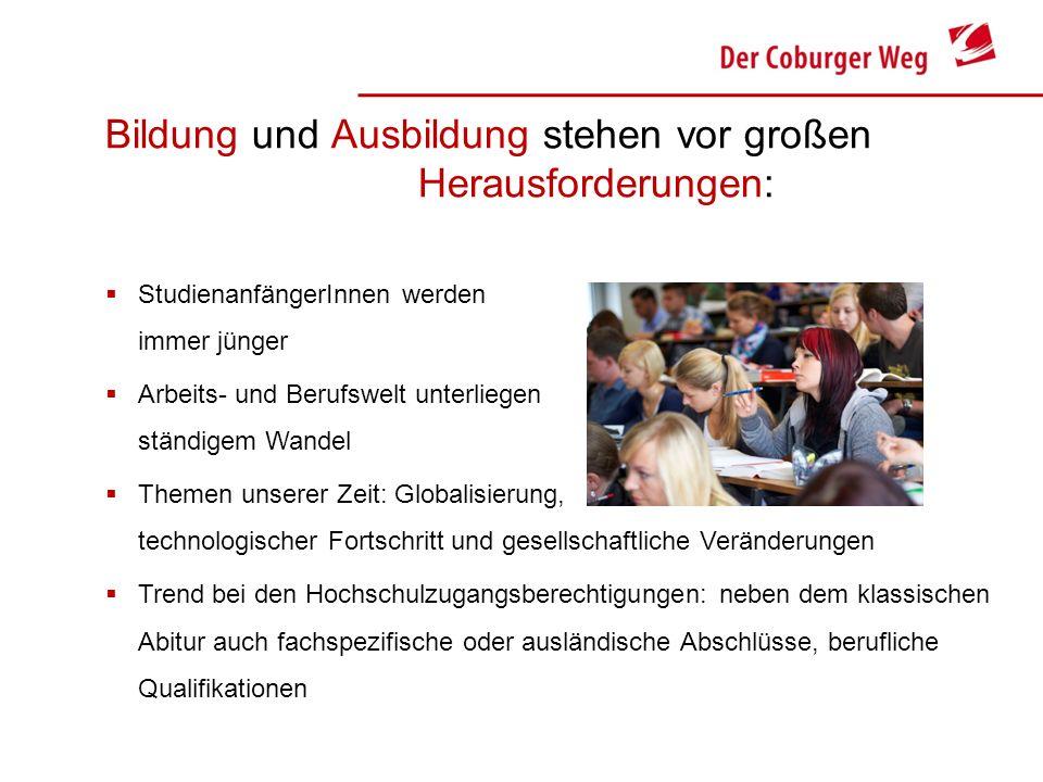 Bildung und Ausbildung stehen vor großen Herausforderungen: