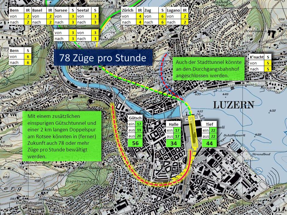 78 Züge pro Stunde Auch der Stadttunnel könnte an den Durchgangsbahnhof angeschlossen werden.