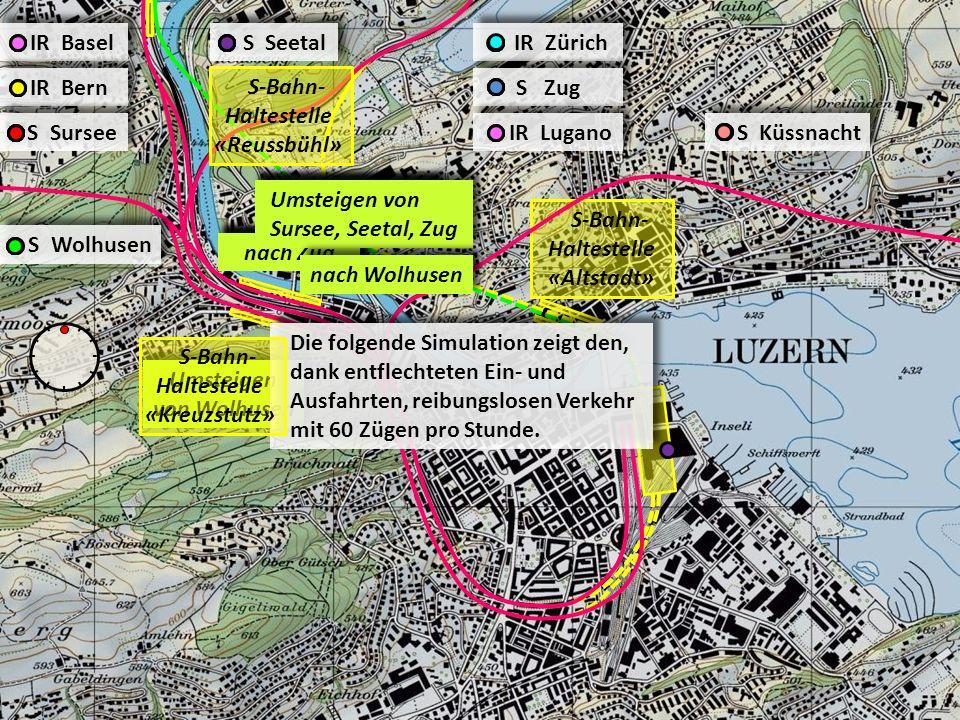 IR Basel S Seetal IR Zürich S Sursee IR Lugano