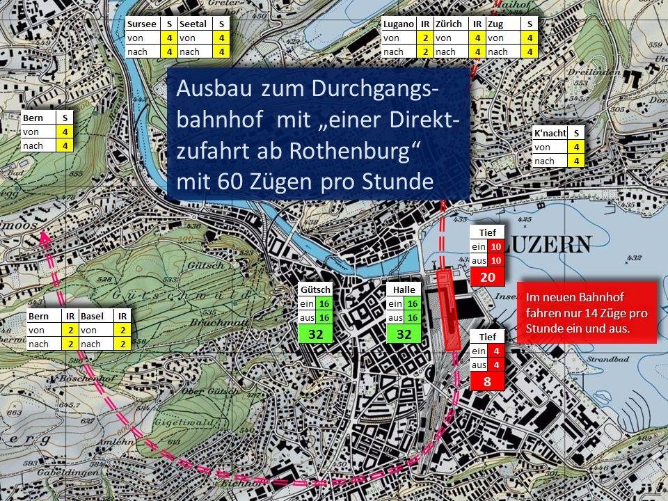 """Ausbau zum Durchgangs-bahnhof mit """"einer Direkt-zufahrt ab Rothenburg mit 60 Zügen pro Stunde"""