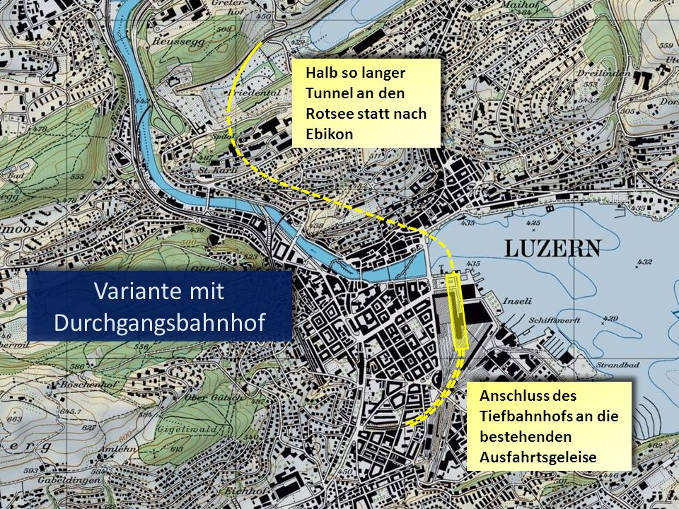 Variante mit Durchgangsbahnhof