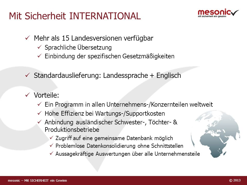 Mit Sicherheit INTERNATIONAL