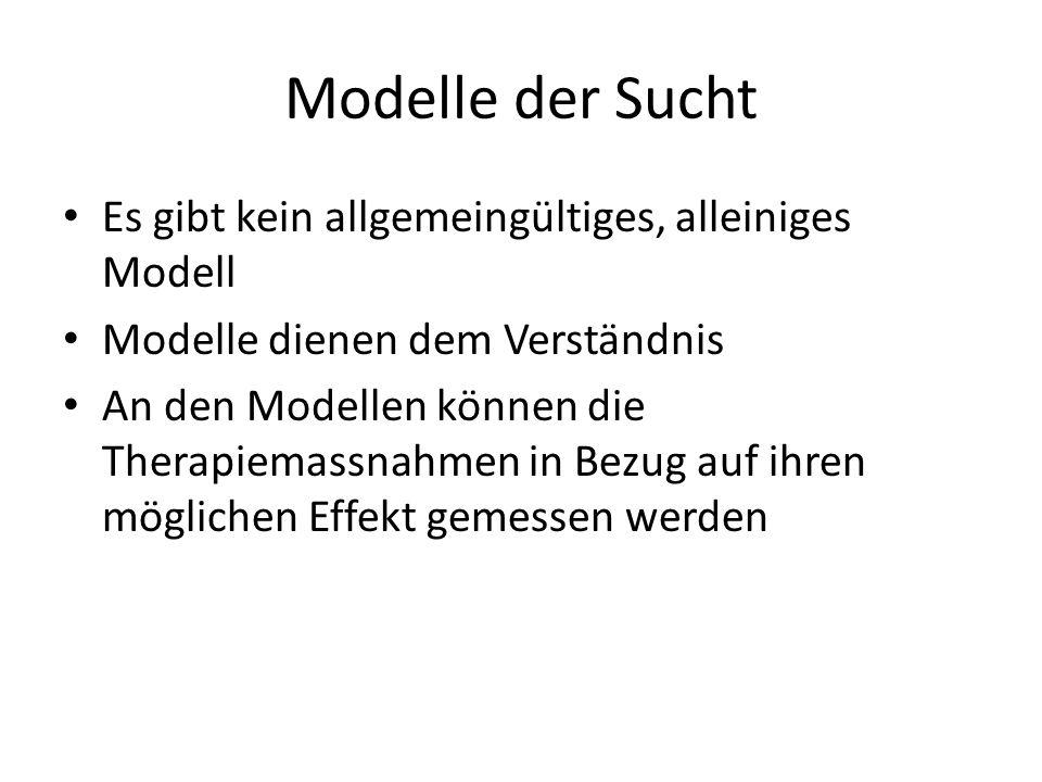 Modelle der Sucht Es gibt kein allgemeingültiges, alleiniges Modell