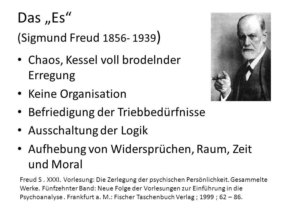 """Das """"Es (Sigmund Freud 1856- 1939)"""