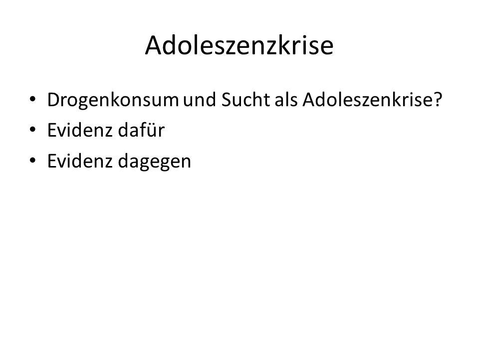 Adoleszenzkrise Drogenkonsum und Sucht als Adoleszenkrise