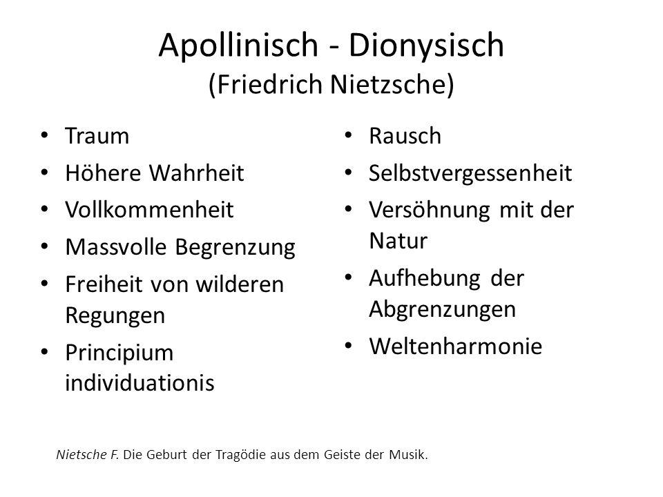 Apollinisch - Dionysisch (Friedrich Nietzsche)