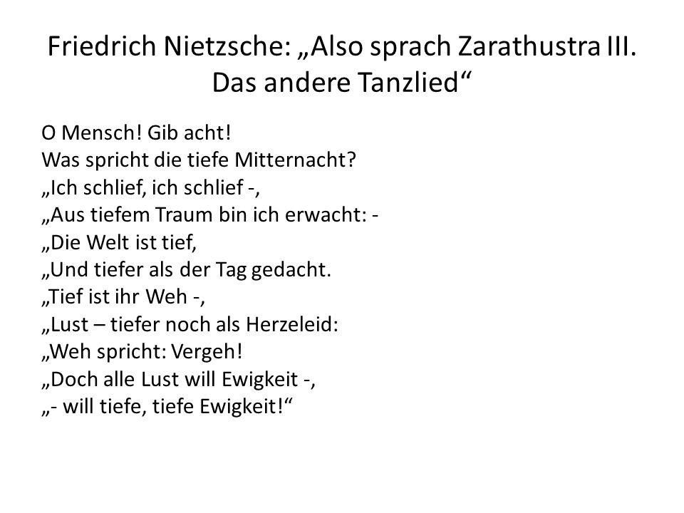"""Friedrich Nietzsche: """"Also sprach Zarathustra III. Das andere Tanzlied"""