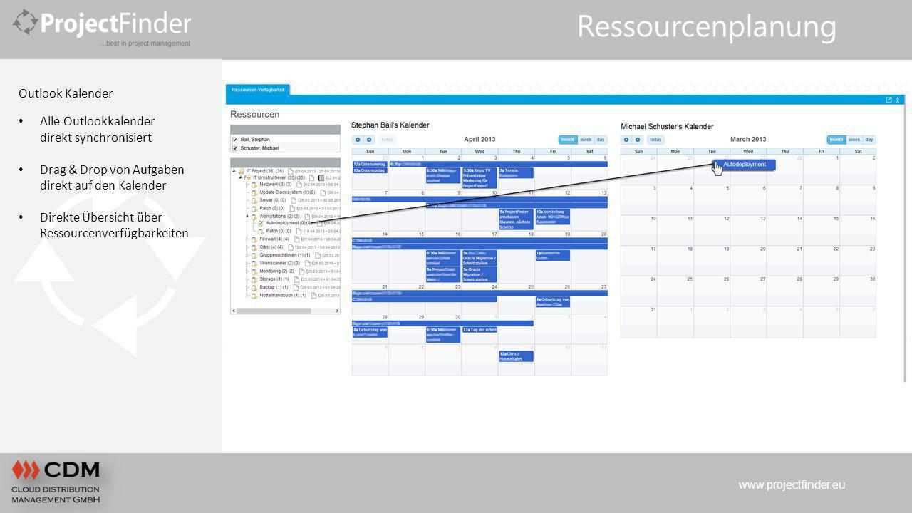 Ressourcenplanung Outlook Kalender