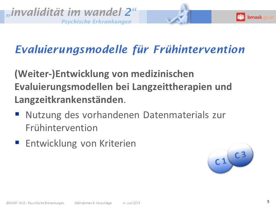 Evaluierungsmodelle für Frühintervention