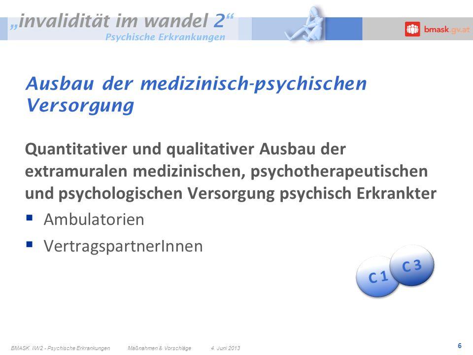 Ausbau der medizinisch-psychischen Versorgung