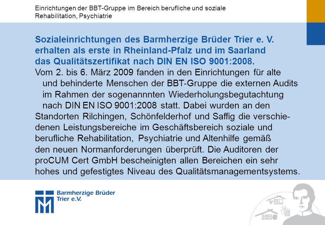 Sozialeinrichtungen des Barmherzige Brüder Trier e. V.