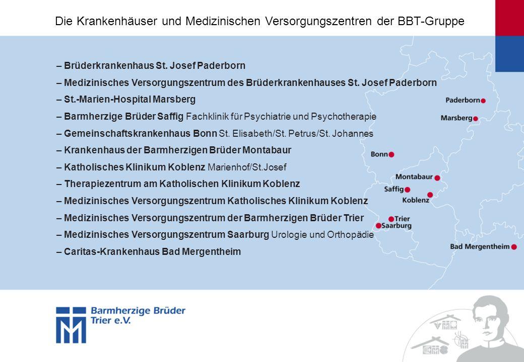 Die Krankenhäuser und Medizinischen Versorgungszentren der BBT-Gruppe