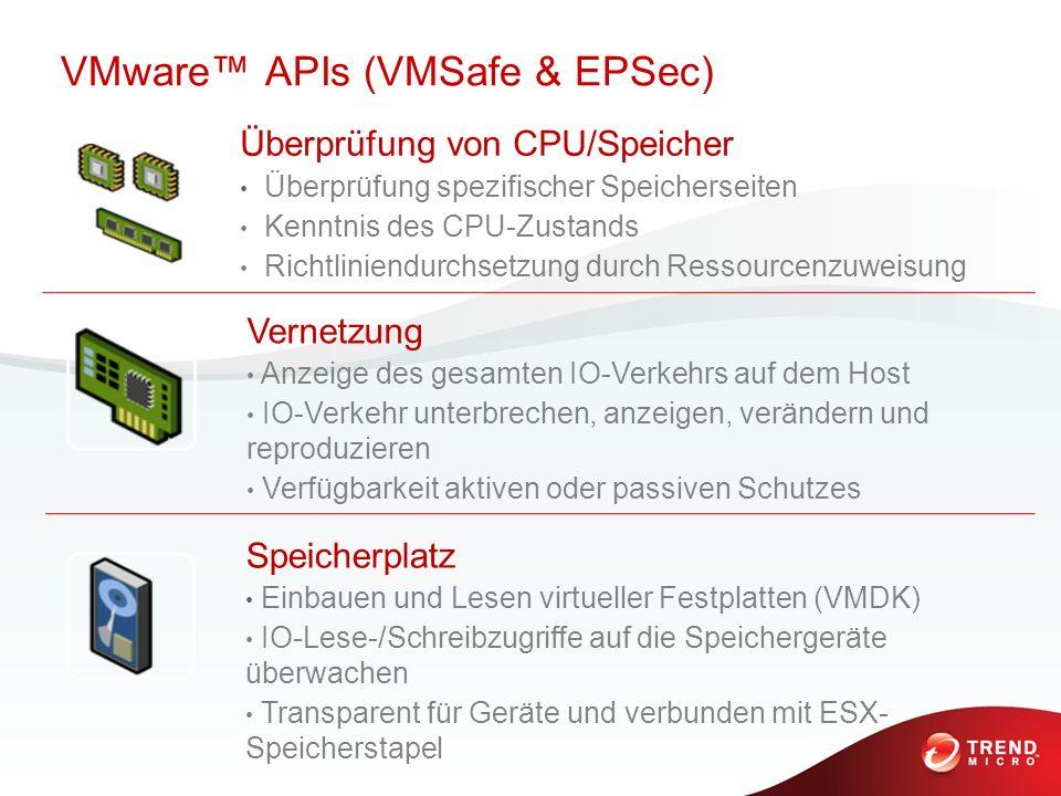 VMware™ APIs (VMSafe & EPSec)