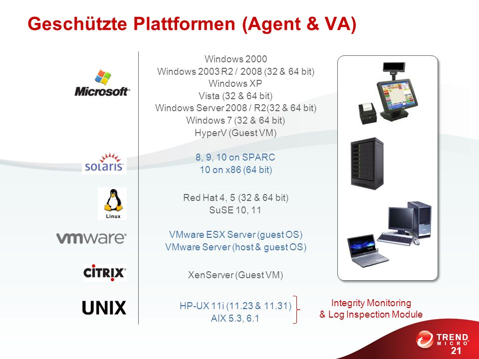 Geschützte Plattformen (Agent & VA)