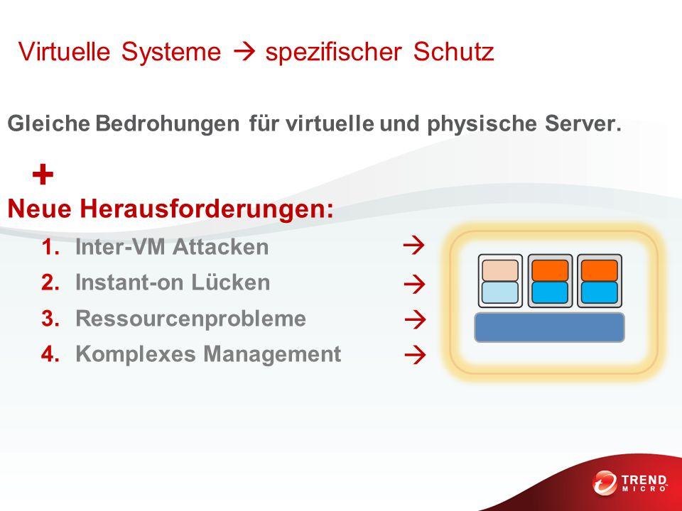 + Virtuelle Systeme  spezifischer Schutz Neue Herausforderungen: 