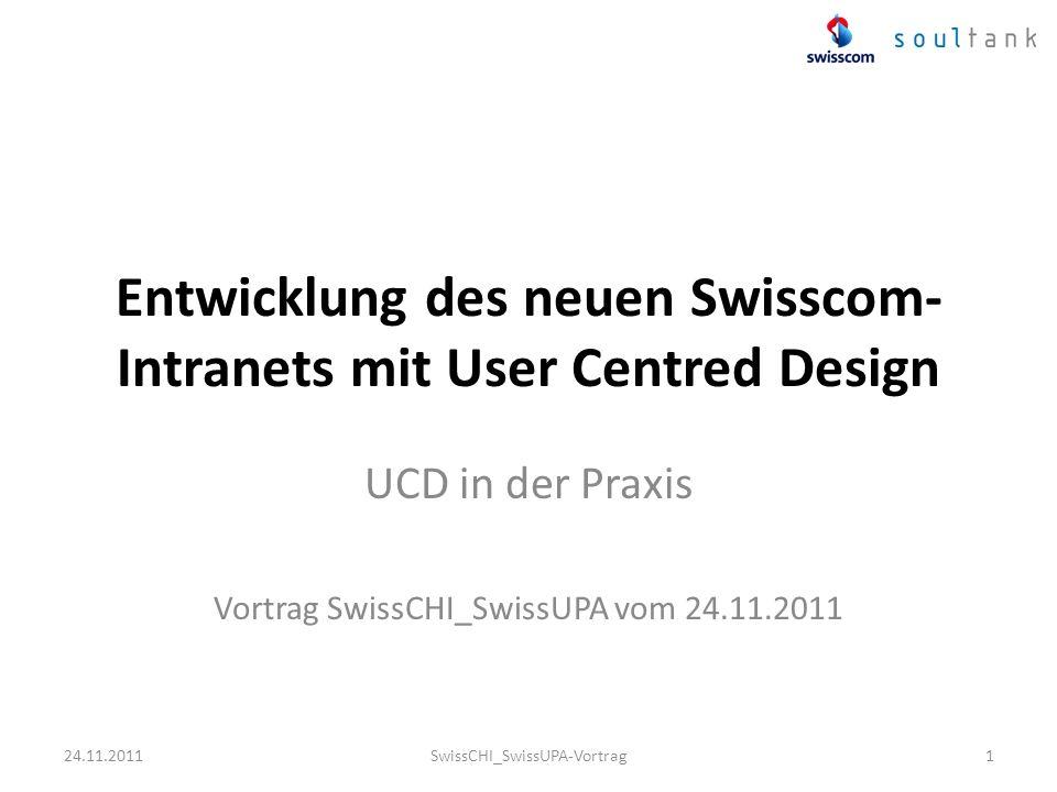Entwicklung des neuen Swisscom-Intranets mit User Centred Design