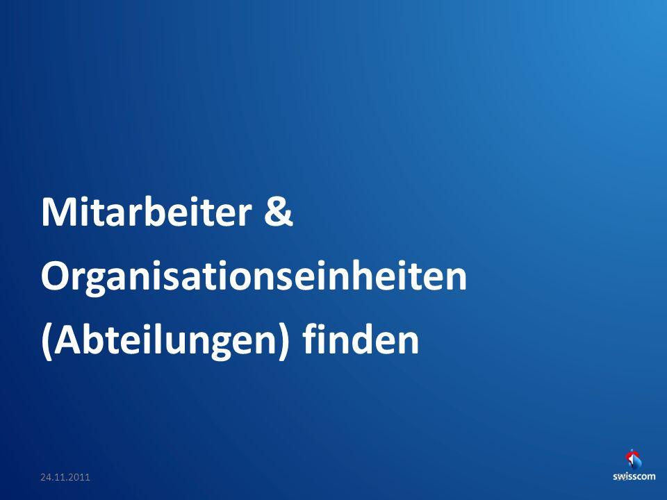 Mitarbeiter & Organisationseinheiten (Abteilungen) finden
