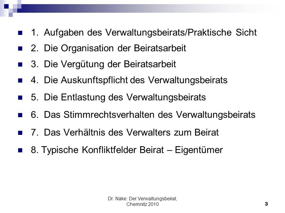 Dr. Näke: Der Verwaltungsbeirat, Chemnitz 2010