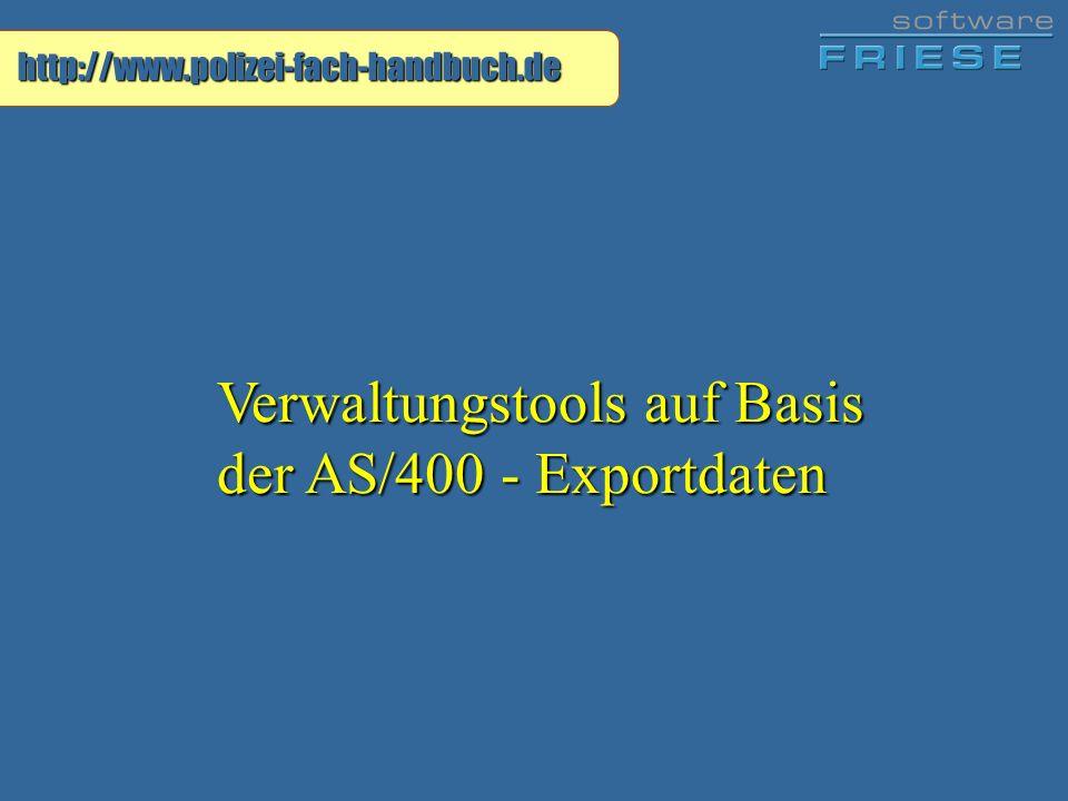 Verwaltungstools auf Basis der AS/400 - Exportdaten